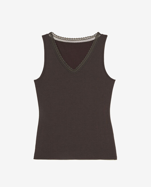 Ärmelloses T-Shirt Nebelgrau HEATTECH® EXTRA WARM