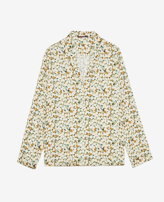 Pyjama-Jacke Tulpe Gartengrün ATTITUDE IMPRIME