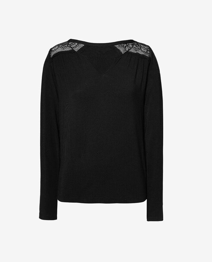 Langärmliges T-Shirt Schwarz REVERIE
