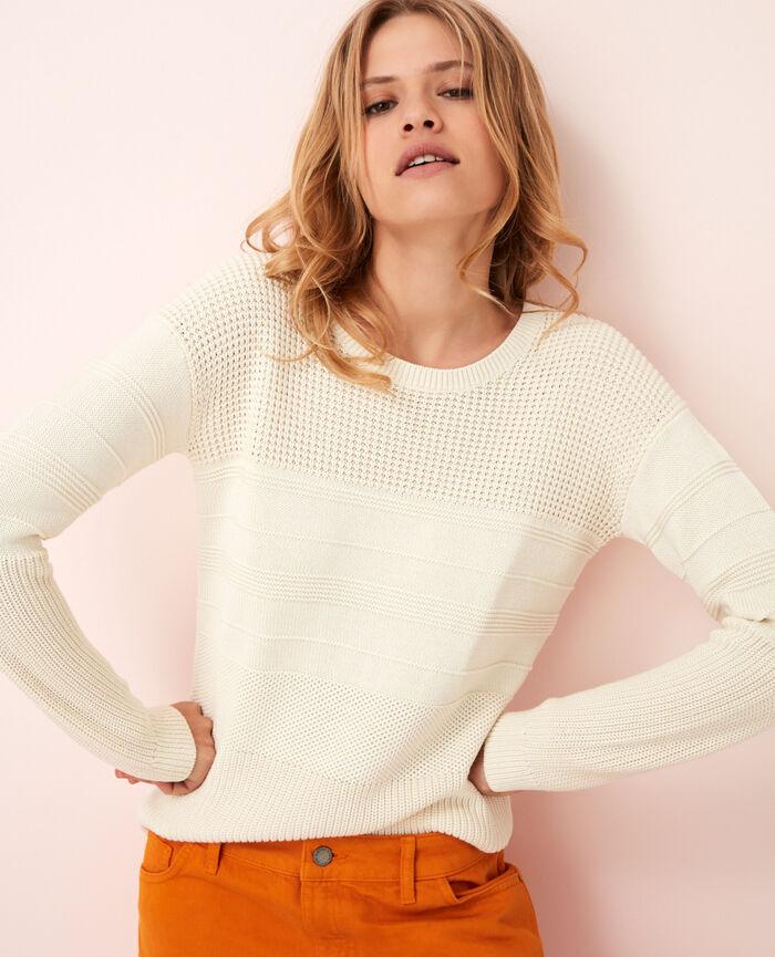 Pullover Elfenbeinfarben CACHOU