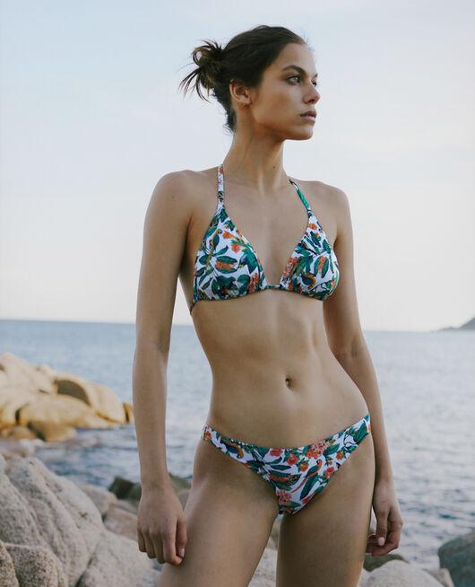 Gepolstertes Triangel-Bikini-Oberteil Papagei TWIST