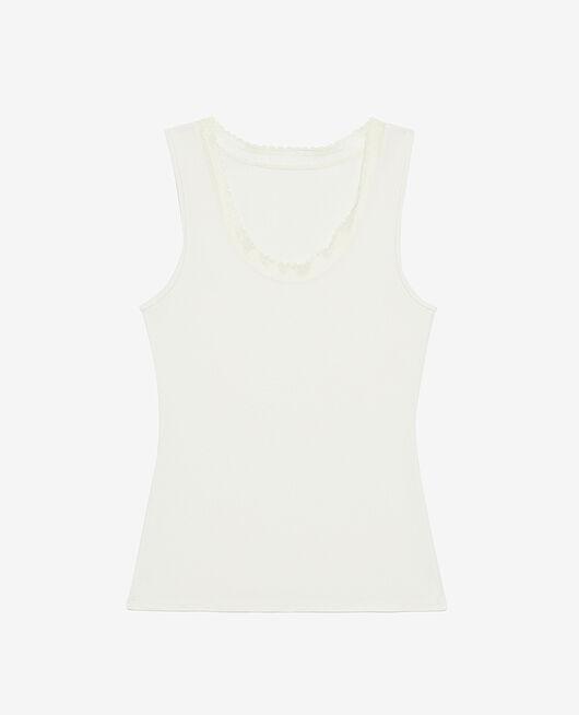 Ärmelloses T-Shirt Cremeweiß HEATTECH® EXTRA WARM