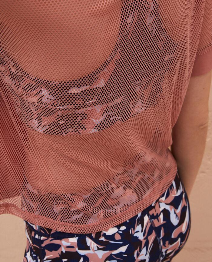 Sport-T-Shirt mit kurzen Ärmeln Dünen Beige YOGA RESILLE