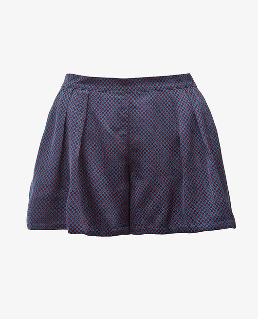 Pyjama-Shorts Blau gepunktet AURORE