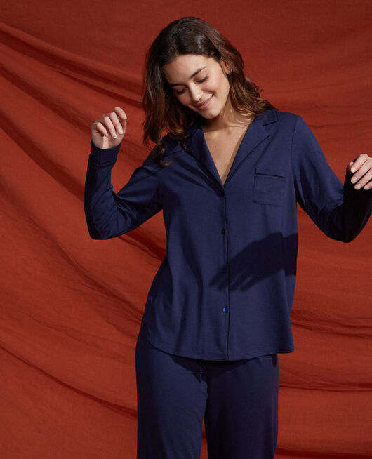 Pyjama-Jacke Marineblau DIMANCHE