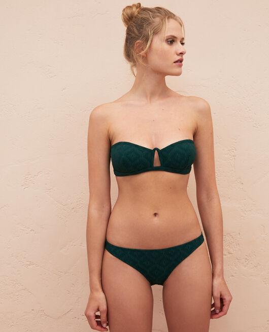 Bandeau-Bikini-Oberteil ohne Bügel Keramik Grün YUGI
