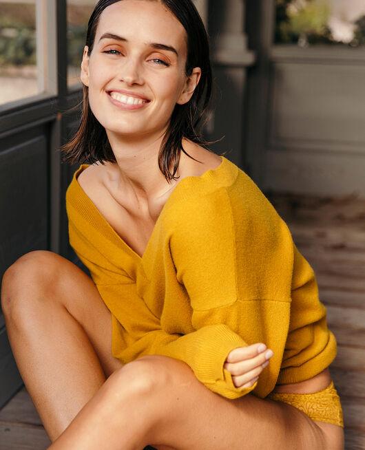 Pullover mit V-Ausschnitt Absinthe gelb ICONE
