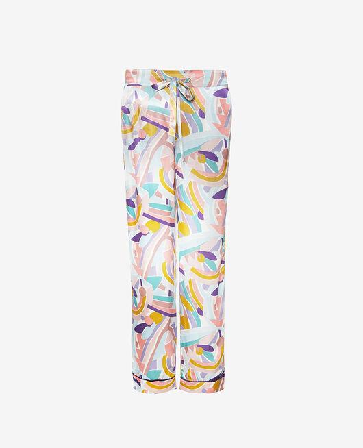 Pyjama Hose Farbblock PALAZZO