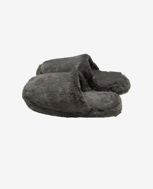 Pantoffeln Gewittergrau OSCAR