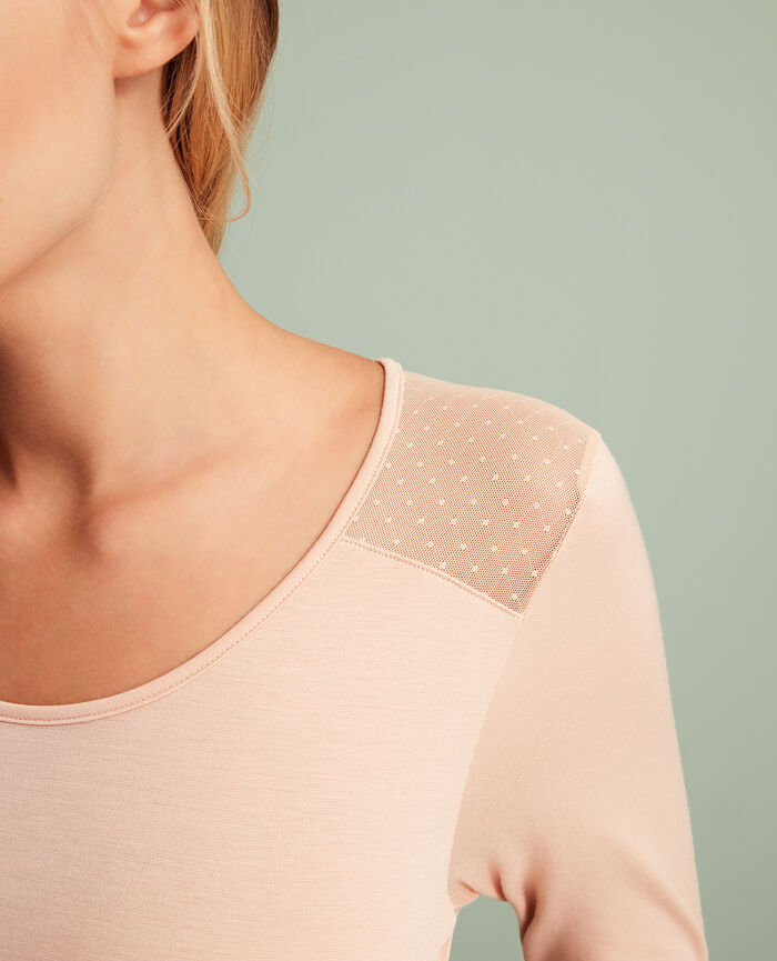 Langärmliges T-Shirt Puder INNERWEAR