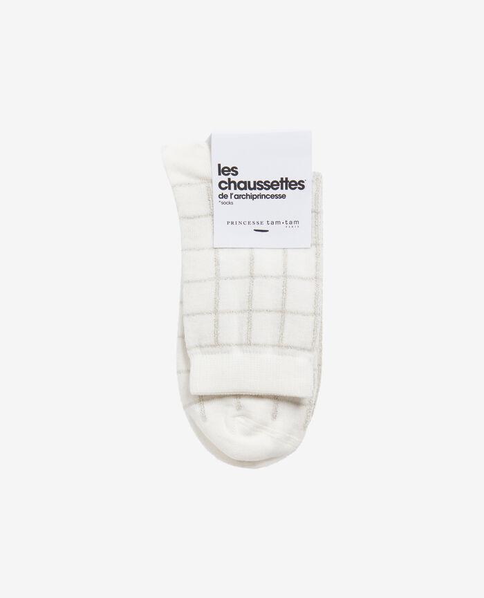 Socken Elfenbeinfarben CHECK