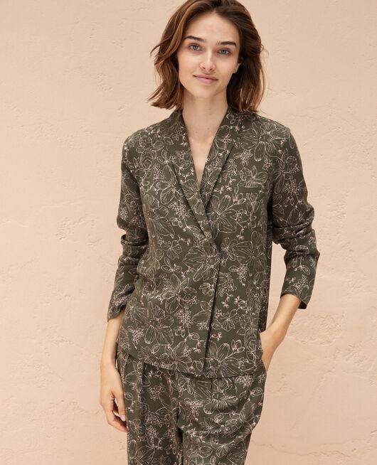 Pyjama-Jacke Azalee grün PICTURAL