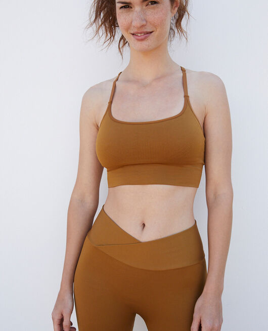 Sport-Leggings Cocktail braun YOGA