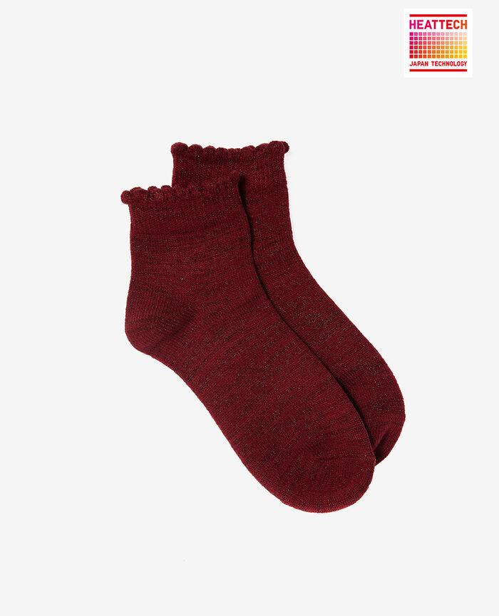 Socken Leder Rot SPARKLE