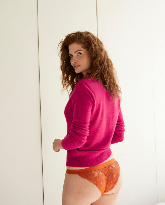 Langärmliger Cardigan Swing rosa SWEET
