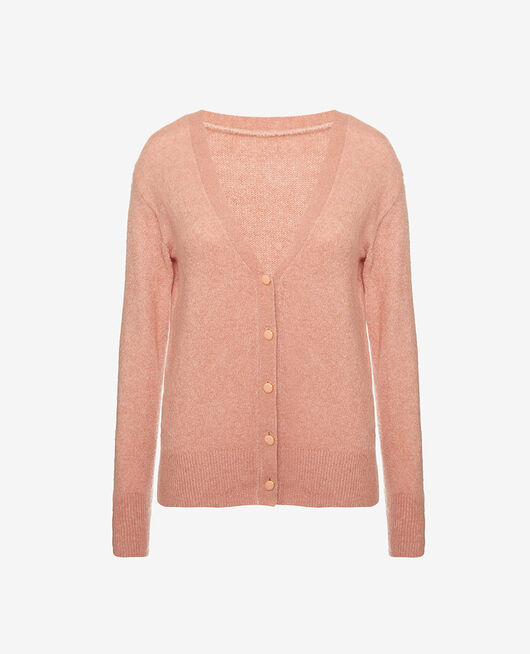 Langärmliger Cardigan Vintage rosa SWEET