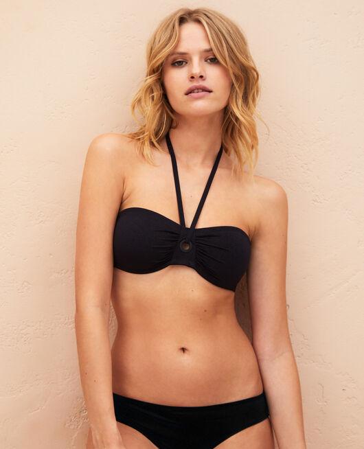 Bandeau-Bikini-Oberteil ohne Bügel Schwarz IMPALA