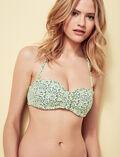 Bandeau-Bikini-Oberteil mit versteckten Bügeln Anisette Gelb STELLAR
