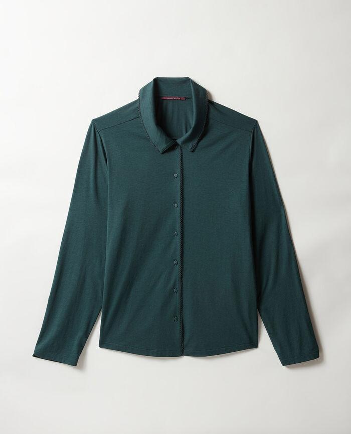 Pyjama-Jacke Nachtgrün BONNE NUIT