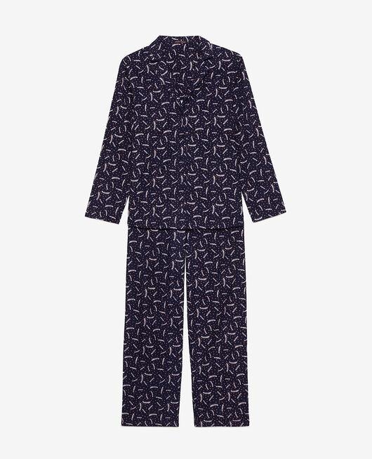 Pyjama-Set Feder Marineblau DODO