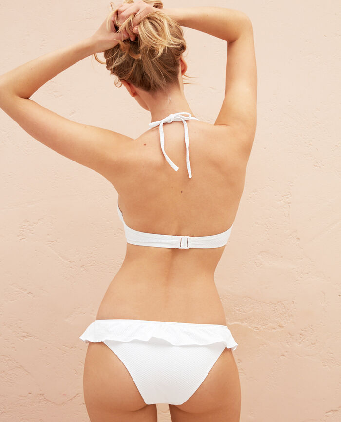 Triangel-Bikini-Oberteil mit Bügeln Weiß FARAH
