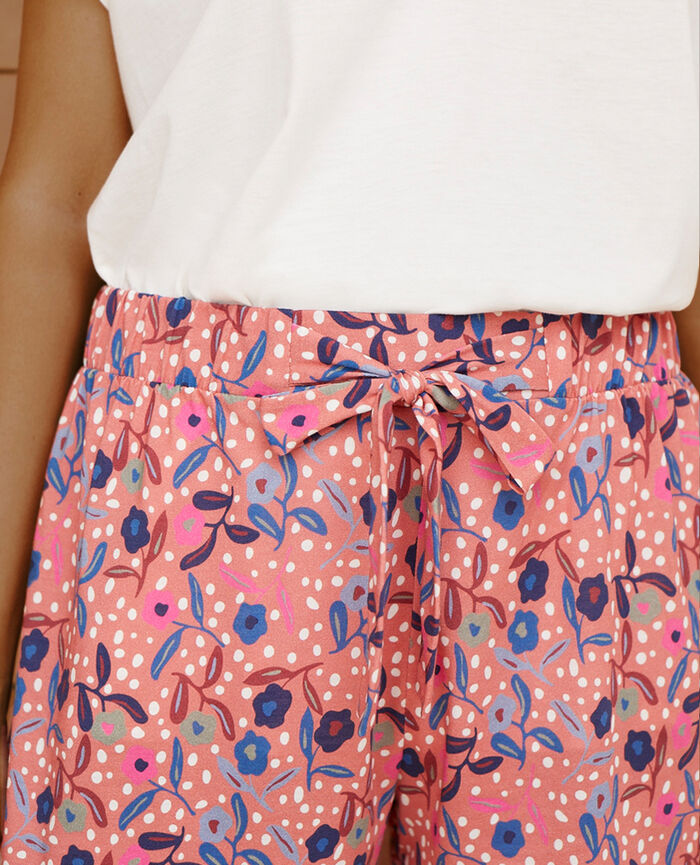 Pyjama-Shorts Myosotis Rosa TAM TAM SHAKER