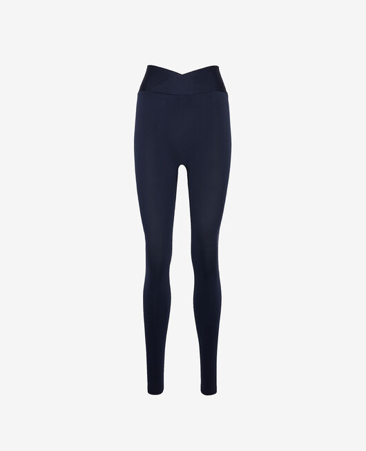 Sport-Leggings Marineblau YOGA