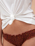 Slip mit Fantasie-Motiv Leopard Terracotta TAKE AWAY