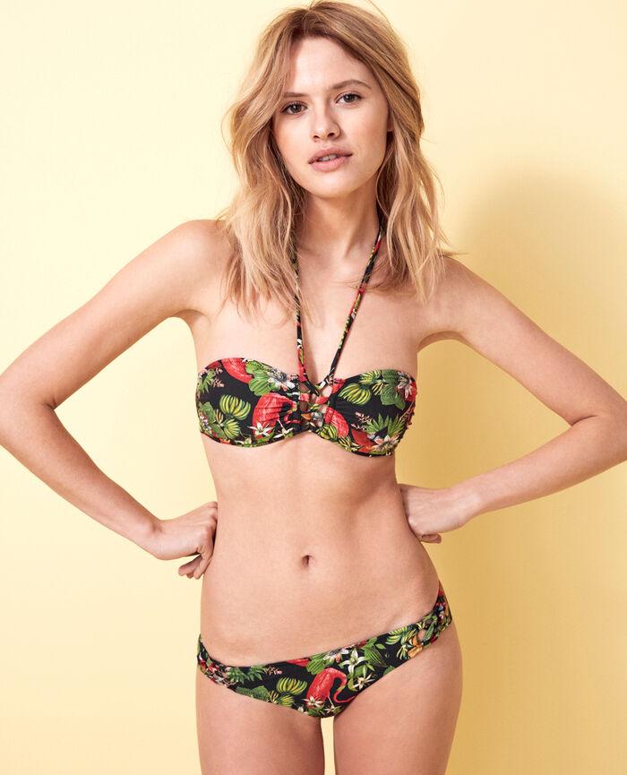 Gepolstertes Bandeau-Bikini-Oberteil ohne Bügel Bunt LAGOS