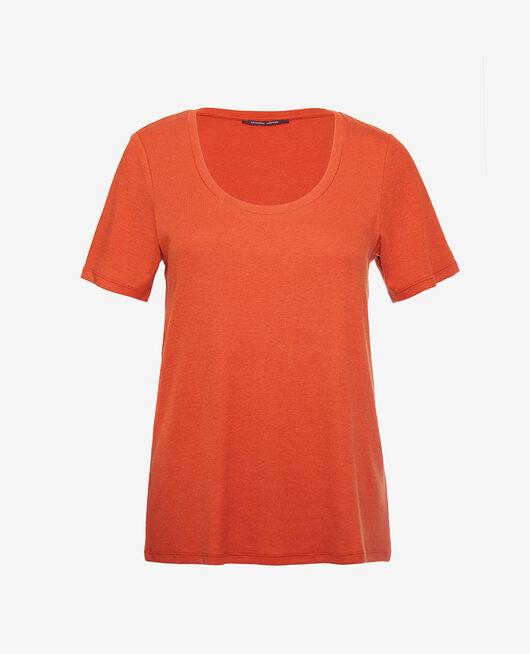 Kurzärmliges T-Shirt Cognac braun DIMANCHE