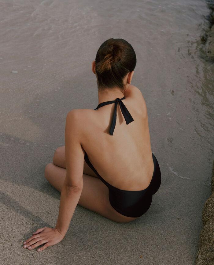 Badeanzug Neckholder Schwarz IMPALA
