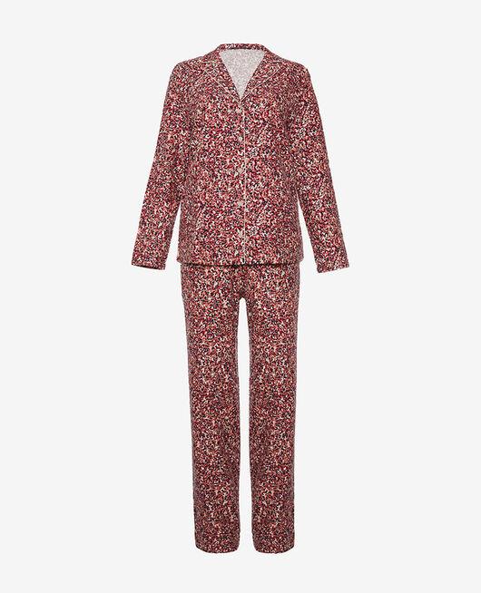 Pyjama-Set Schnee bunt FLANELLE