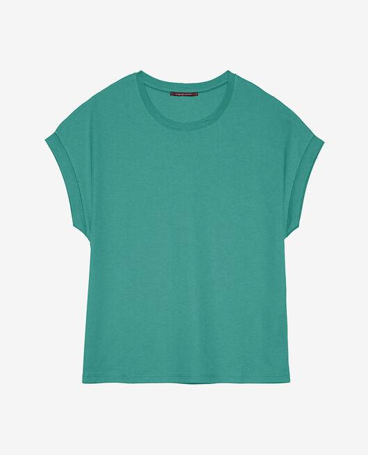 Kurzärmliges T-Shirt Emaillegrün SUPIMA