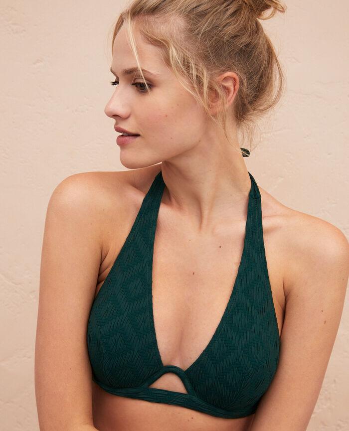 Triangel-Bikini-Oberteil mit Bügeln Keramik Grün YUGI