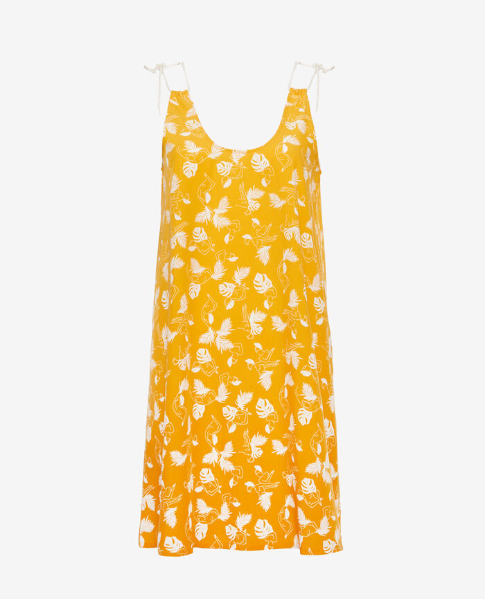 Kurzes Nachthemd Hammam Gelb BAHIA