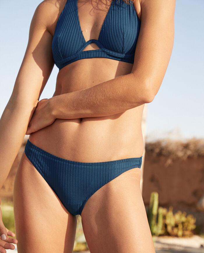 Ausgeschnittener Bikinislip Sombrero Blau COUTURE
