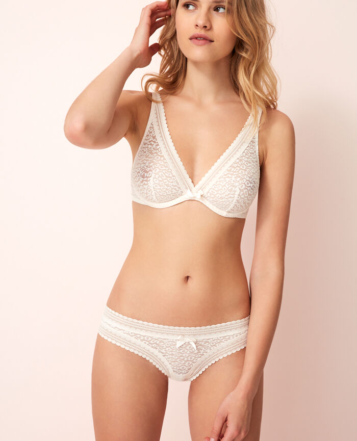 Low-cut Slip Weiß rosé BELLE