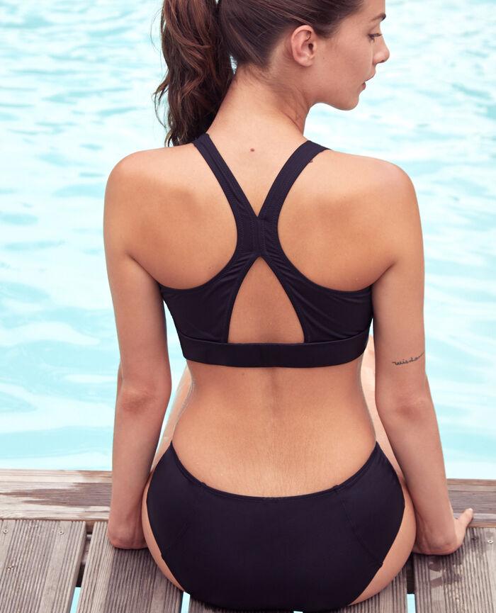 Badeanzug Sport ohne Bügel Schwarz AQUA