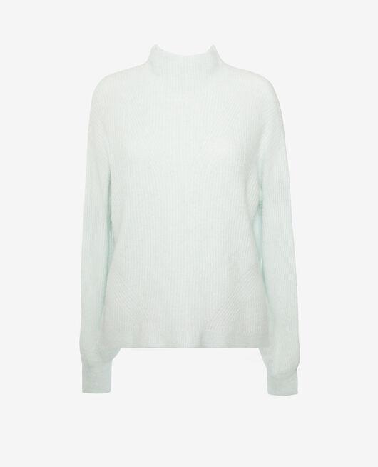 Pullover mit Stehkragen Opal grün WINTER