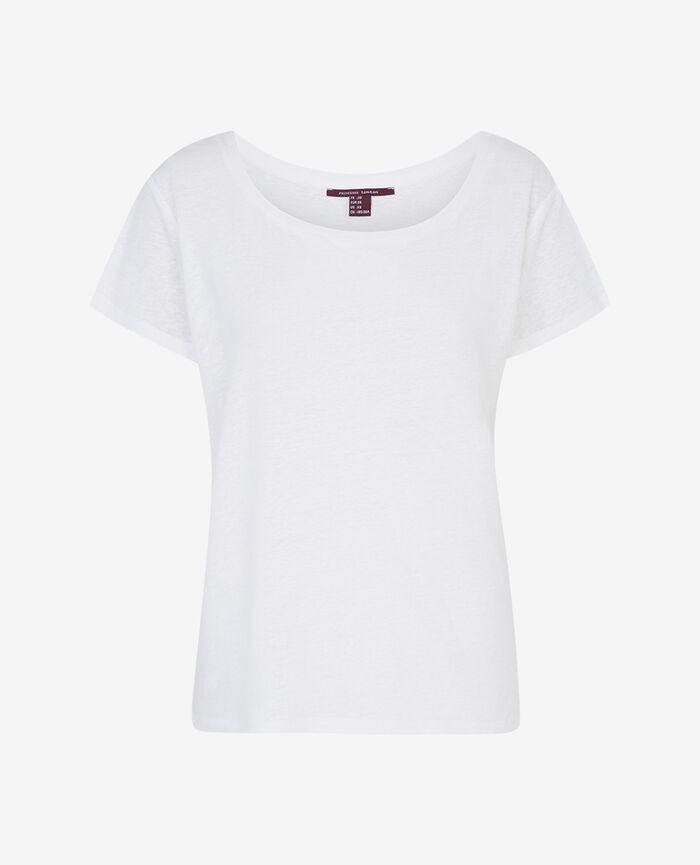 Kurzärmeliges T-Shirt mit Boots-Ausschnitt Weiß IDEAL
