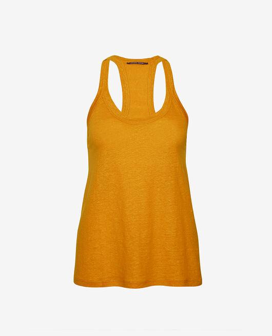 Ärmelloses T-Shirt Kümmelgelb CASUAL LIN