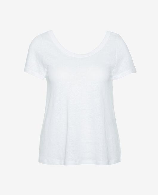 Kurzärmliges T-Shirt Weiß CASUAL LIN