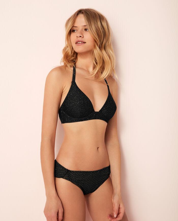 Triangel-Bikini-Oberteil mit Mini-Wire Schwarz WAHOU