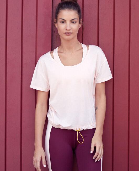 Sport-T-Shirt mit kurzen Ärmeln Wolkenrosa YOGA