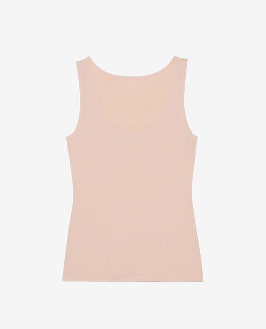 Ärmelloses T-Shirt Beige Puder HEATTECH® INNERWEAR
