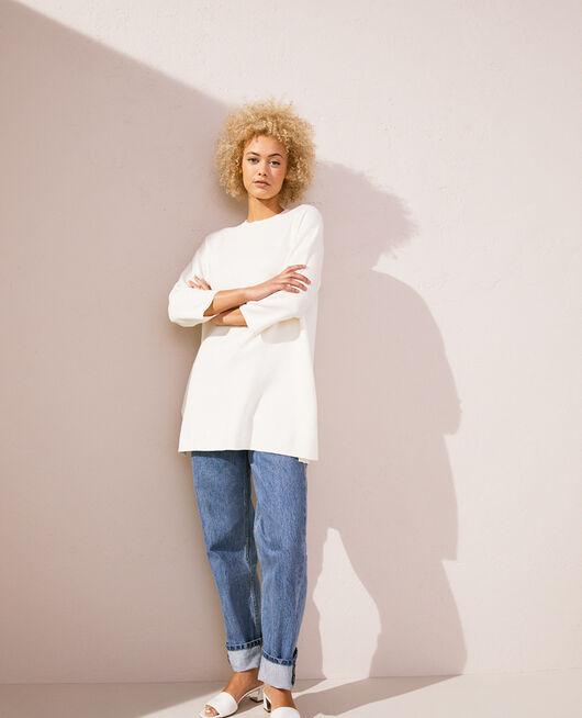 Long-sleeved tunic Elfenbeinfarben NATUREL