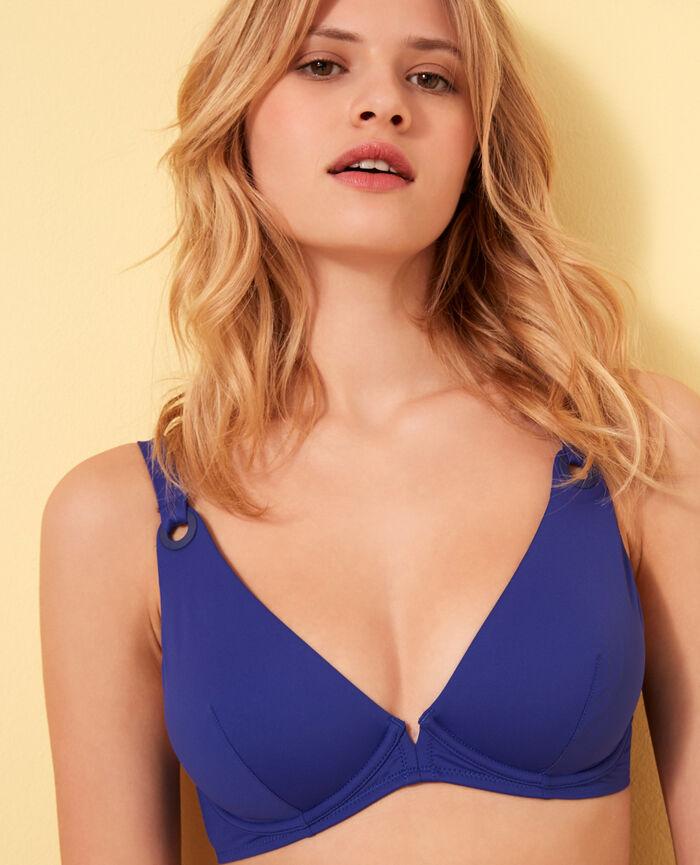 Triangel-Bikini-Oberteil mit Bügeln Mascarablau IMPALA