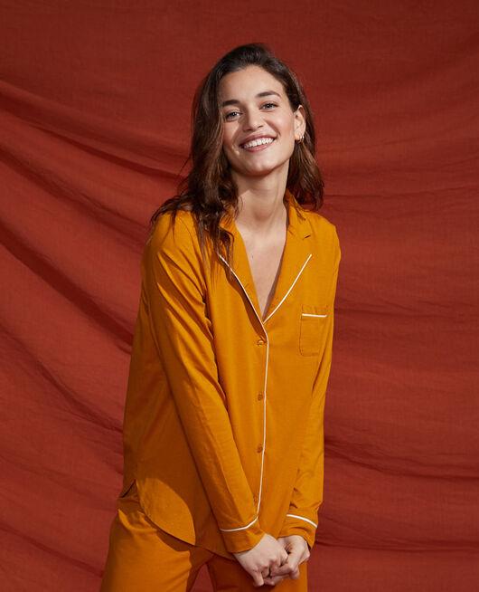 Pyjama-Jacke Kümmelgelb DIMANCHE