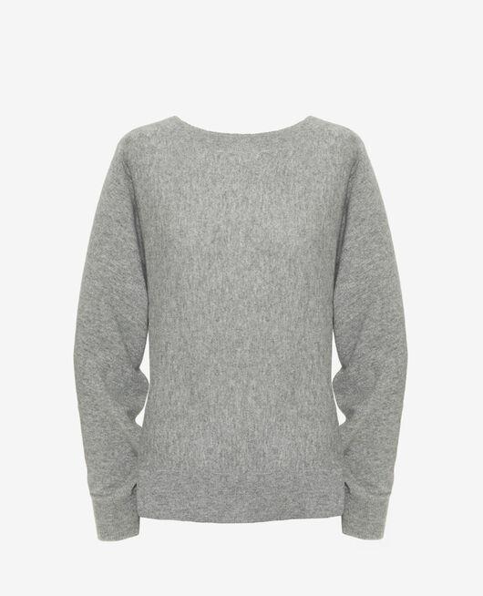 Pullover mit U-Boot-Ausschnitt Grau ICONE