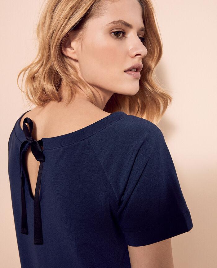 Kurzärmliges T-Shirt Marineblau AIR LOUNGEWEAR